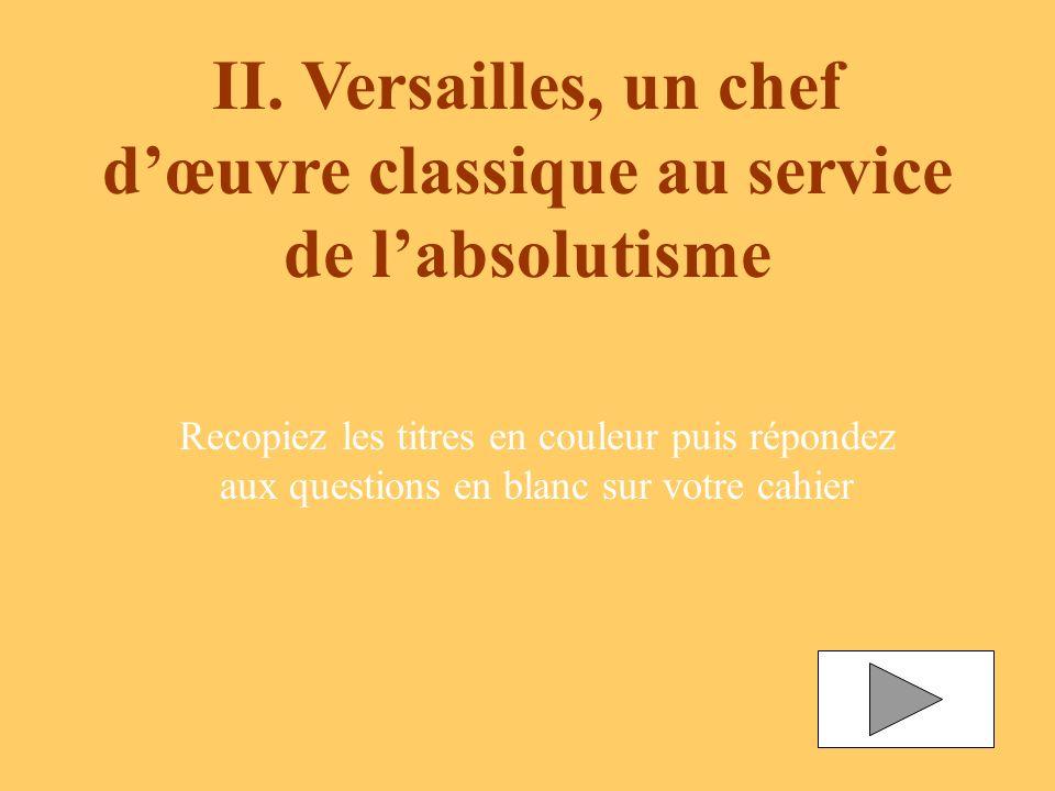 II. Versailles, un chef d'œuvre classique au service de l'absolutisme