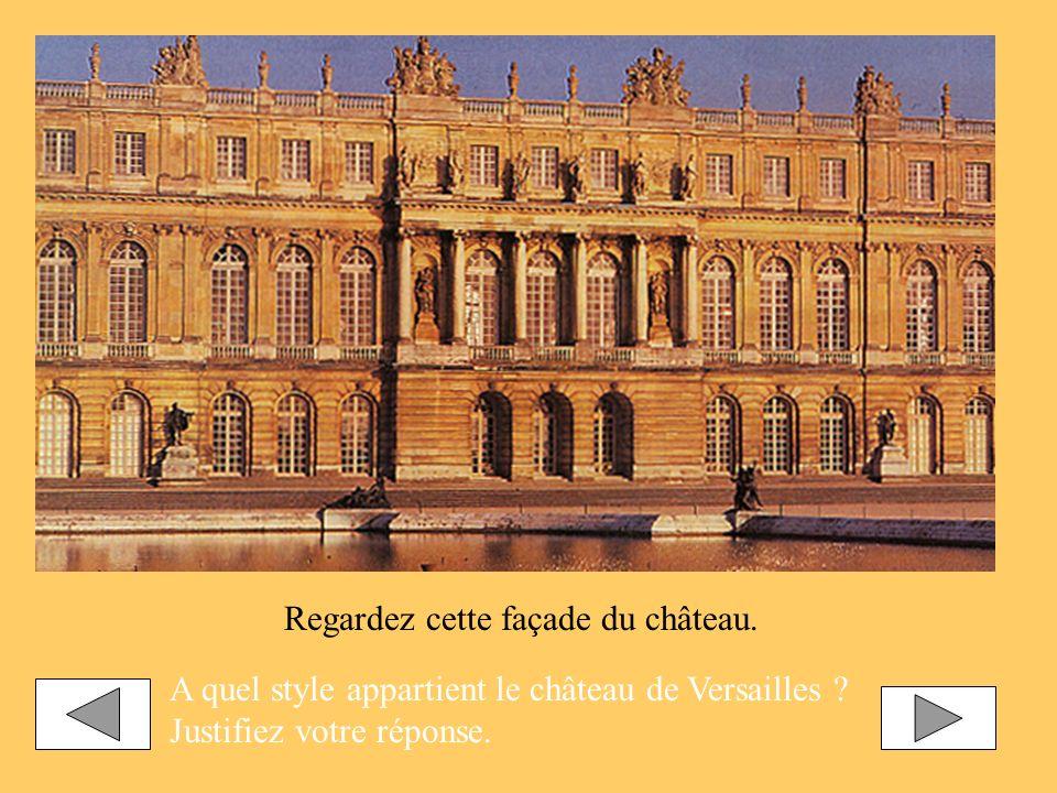 Regardez cette façade du château.