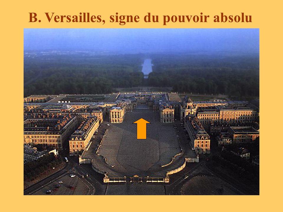 B. Versailles, signe du pouvoir absolu
