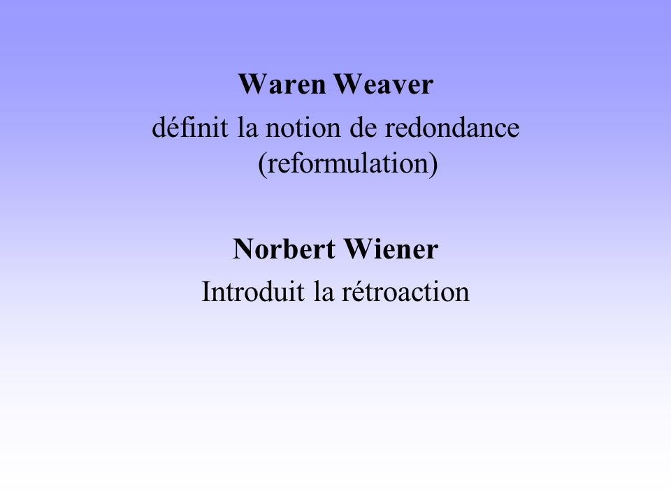définit la notion de redondance (reformulation)