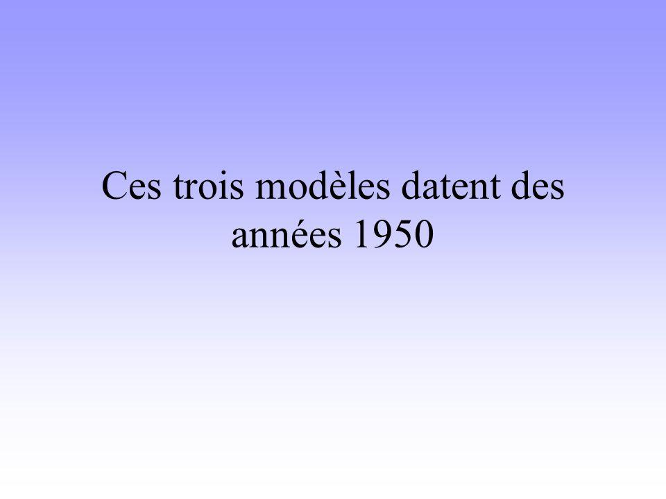 Ces trois modèles datent des années 1950