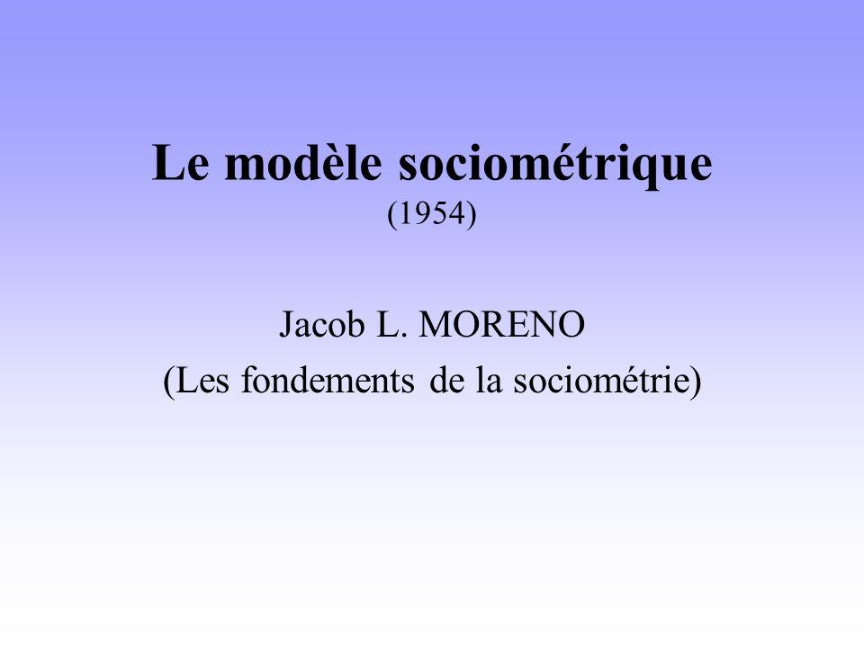 Le modèle sociométrique (1954)