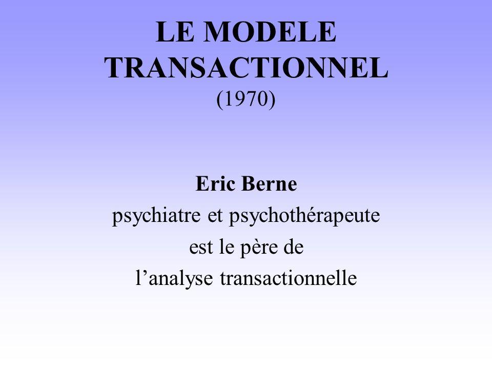 LE MODELE TRANSACTIONNEL (1970)