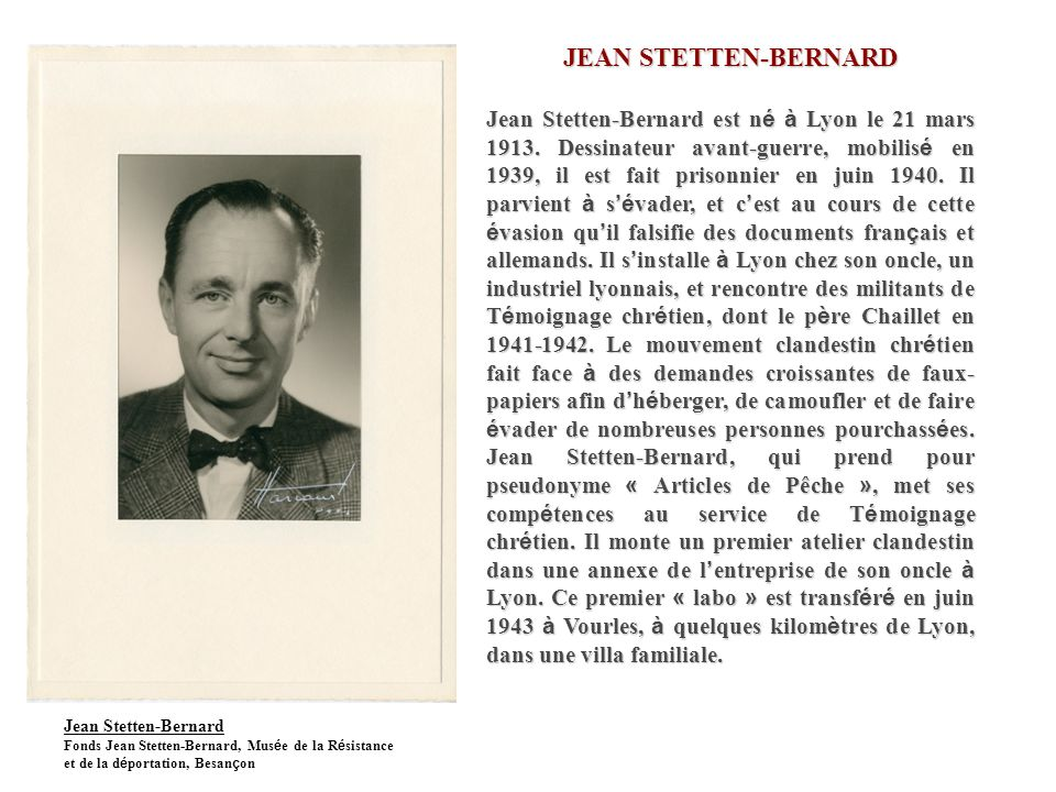 JEAN STETTEN-BERNARD