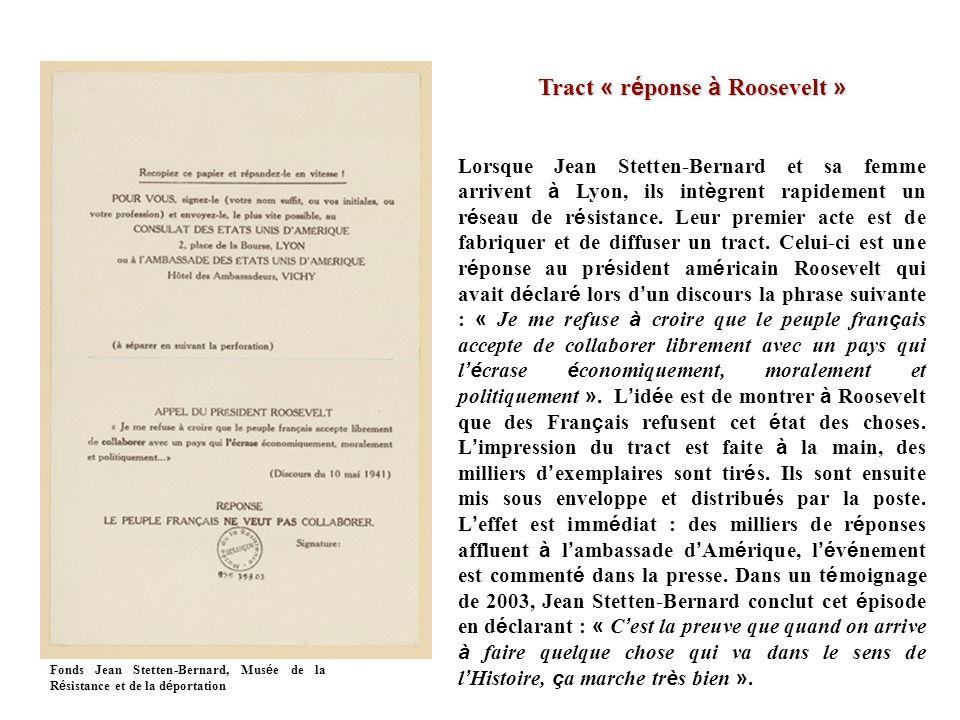 Tract « réponse à Roosevelt »