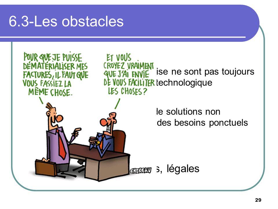 6.3-Les obstacles L'environnement L'histoire de l'entreprise