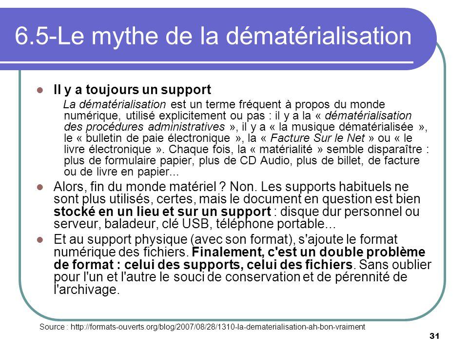6.5-Le mythe de la dématérialisation
