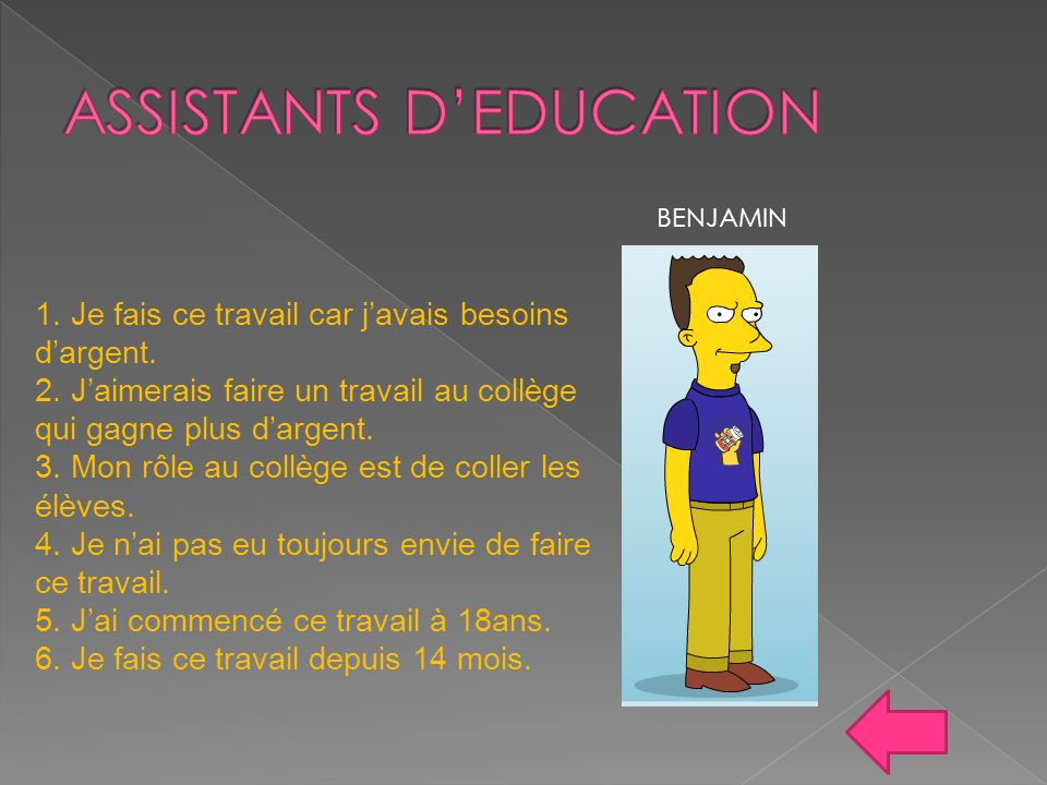 ASSISTANTS D'EDUCATION