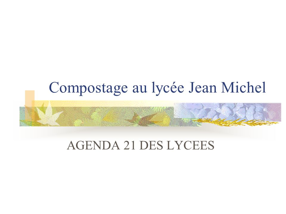 Compostage au lycée Jean Michel