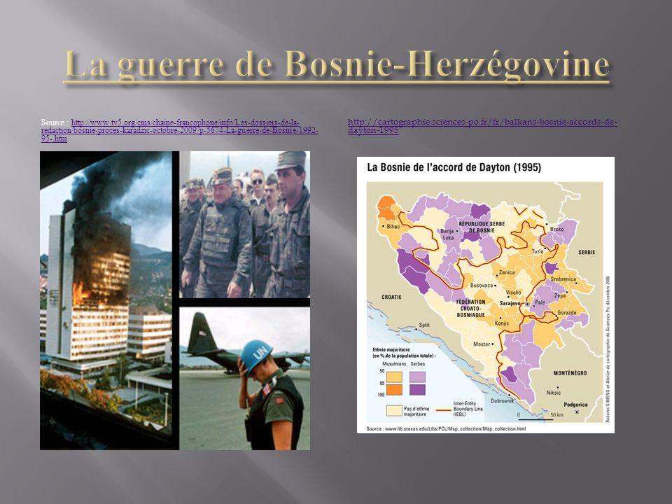 La guerre de Bosnie-Herzégovine