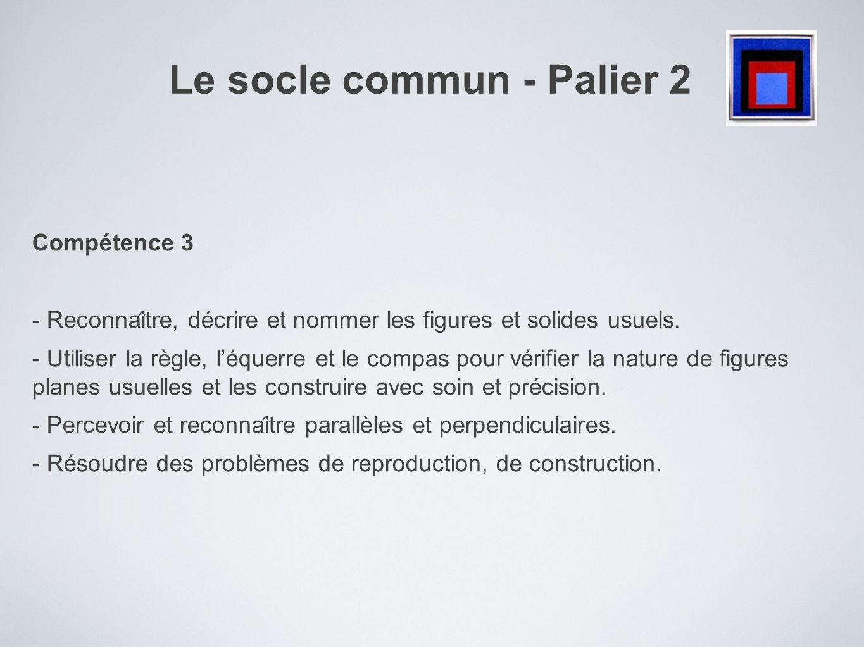 Le socle commun - Palier 2