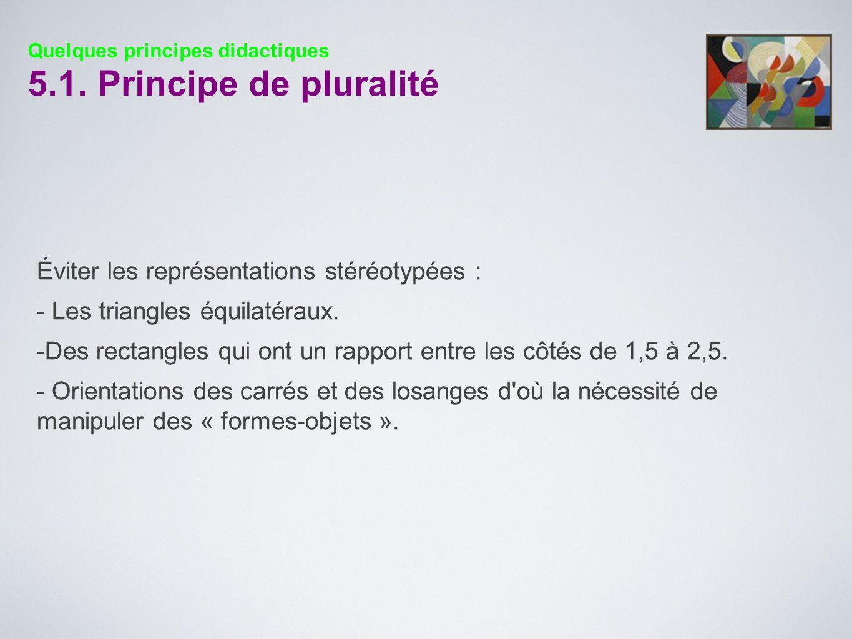 5.1. Principe de pluralité Éviter les représentations stéréotypées :
