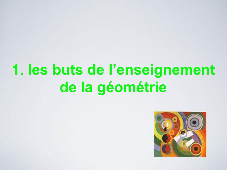 1. les buts de l'enseignement de la géométrie