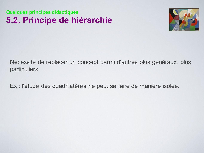 5.2. Principe de hiérarchie