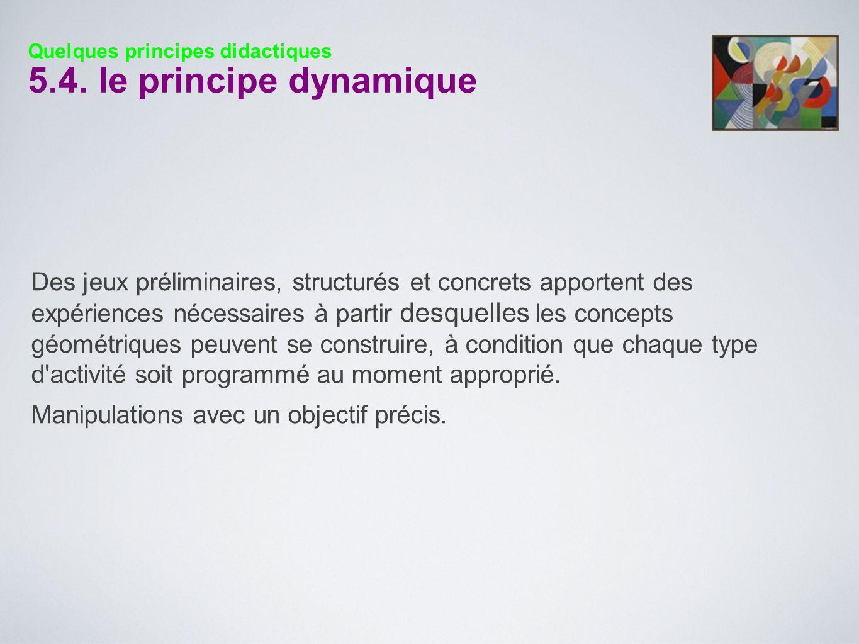 Quelques principes didactiques