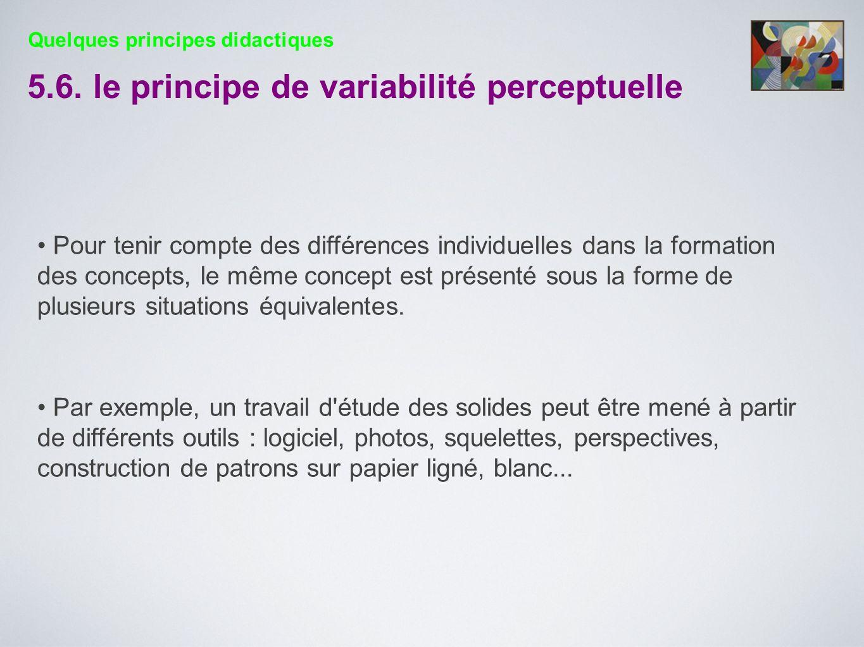 5.6. le principe de variabilité perceptuelle