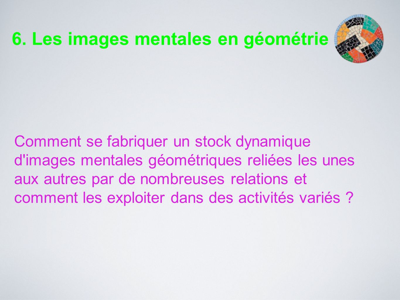 6. Les images mentales en géométrie