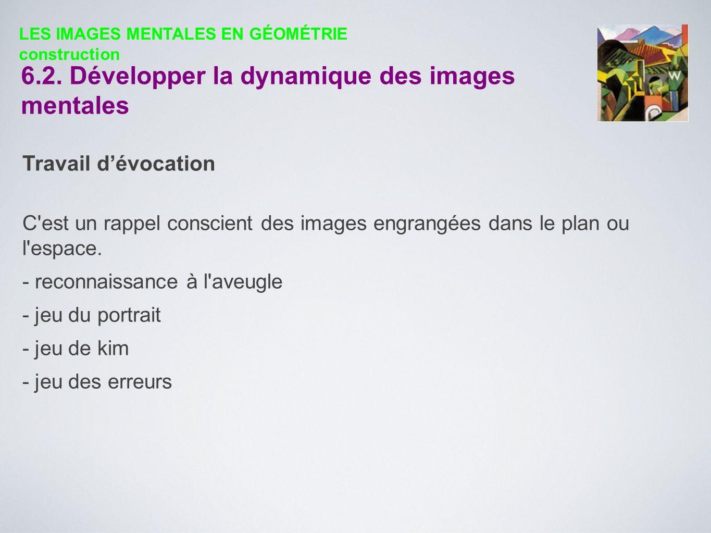 6.2. Développer la dynamique des images mentales