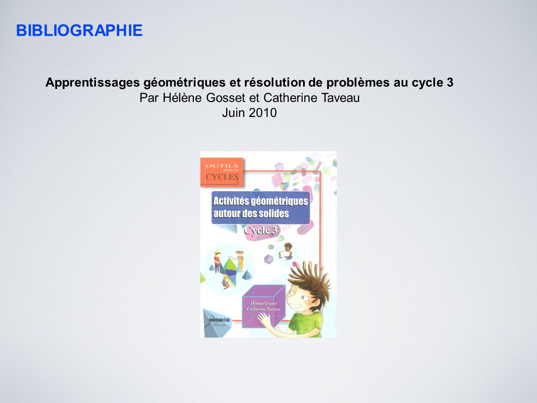 Apprentissages géométriques et résolution de problèmes au cycle 3