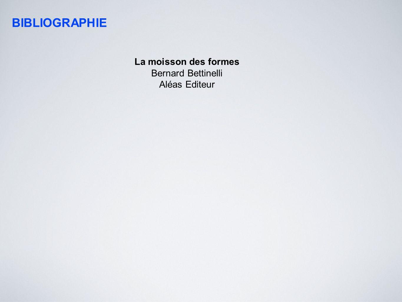 BIBLIOGRAPHIE La moisson des formes Bernard Bettinelli Aléas Editeur