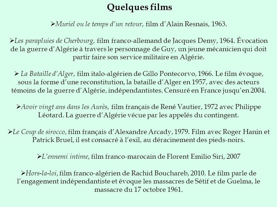 Quelques films Muriel ou le temps d'un retour, film d'Alain Resnais, 1963.