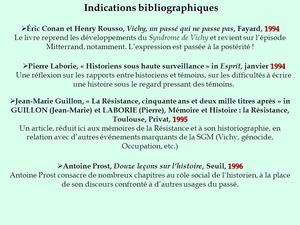 Indications bibliographiques