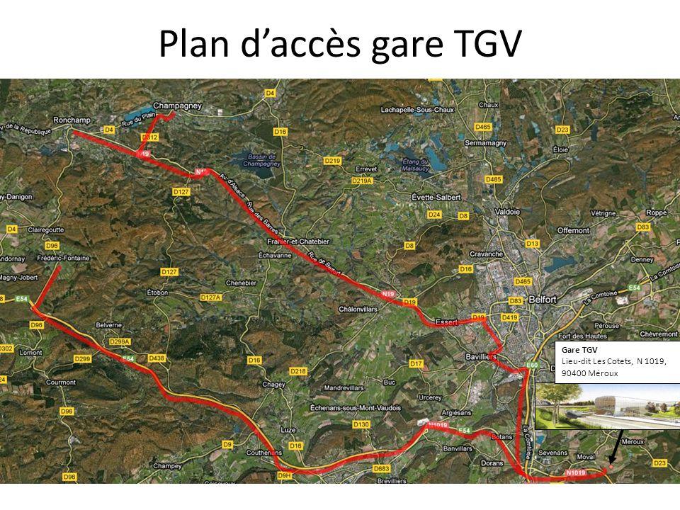 Plan d'accès gare TGV Gare TGV