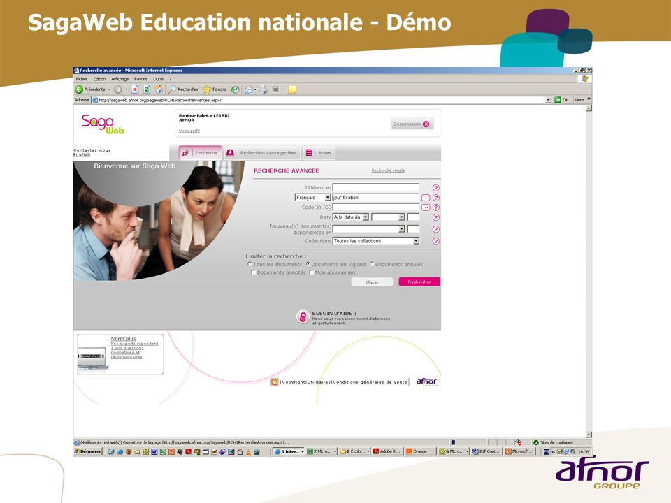 SagaWeb Education nationale - Démo