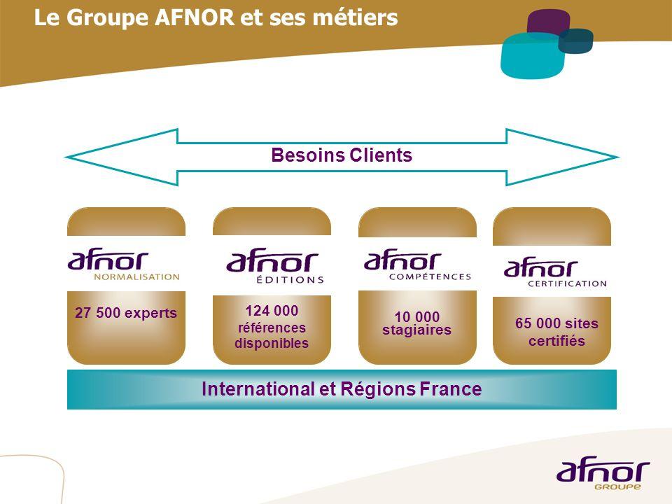 Le Groupe AFNOR et ses métiers