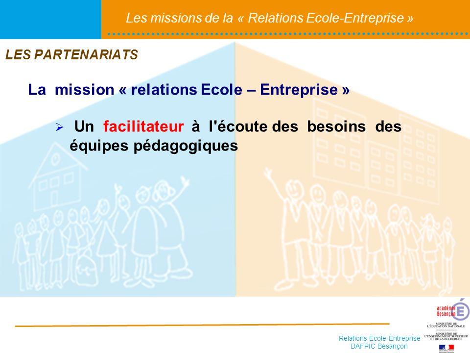La mission « relations Ecole – Entreprise »
