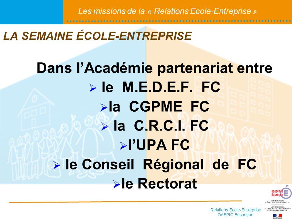 Dans l'Académie partenariat entre le Conseil Régional de FC