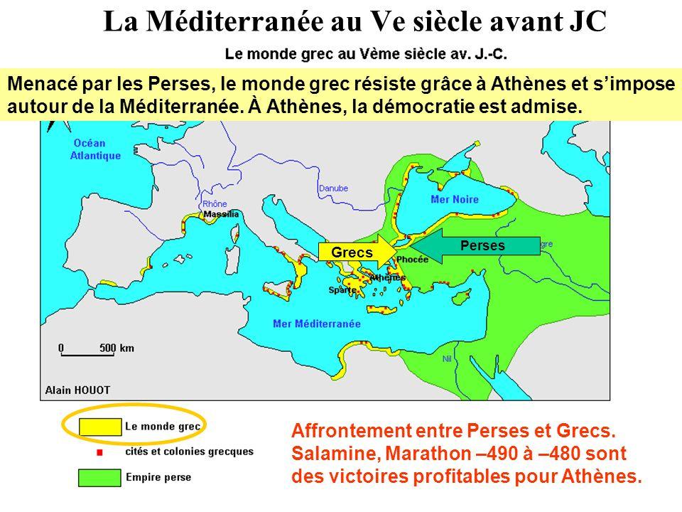 La Méditerranée au Ve siècle avant JC