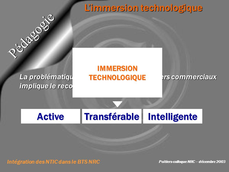 Vecteur de l'information Intégration des NTIC dans le BTS NRC