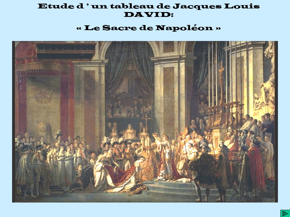 Etude d ' un tableau de Jacques Louis DAVID: