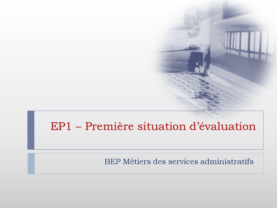EP1 – Première situation d'évaluation
