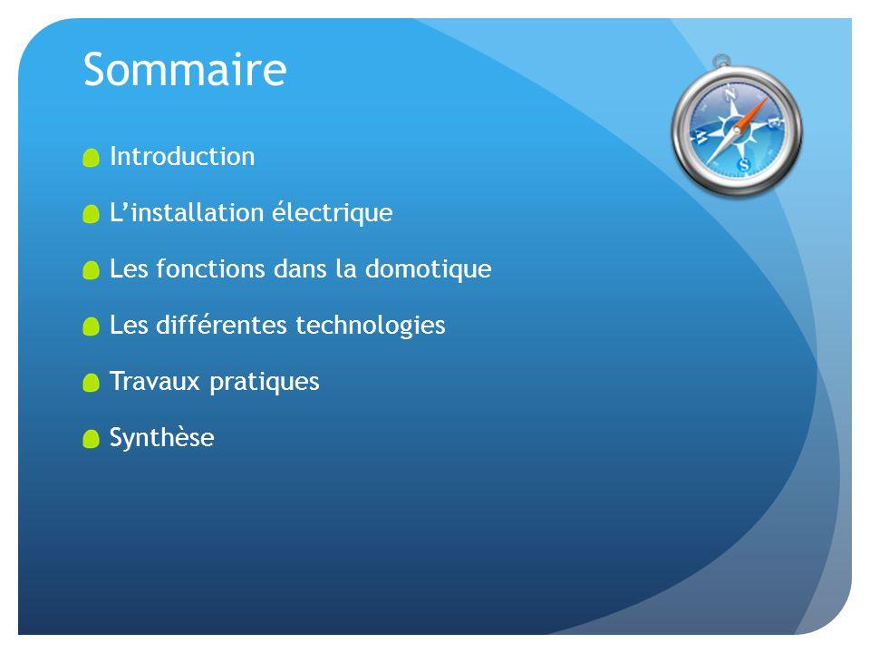 Sommaire Introduction L'installation électrique
