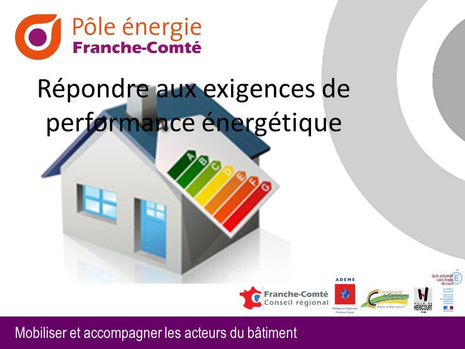 Répondre aux exigences de performance énergétique