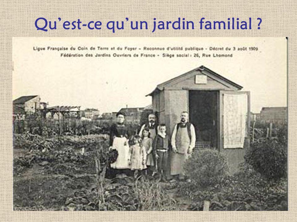 Qu'est-ce qu'un jardin familial
