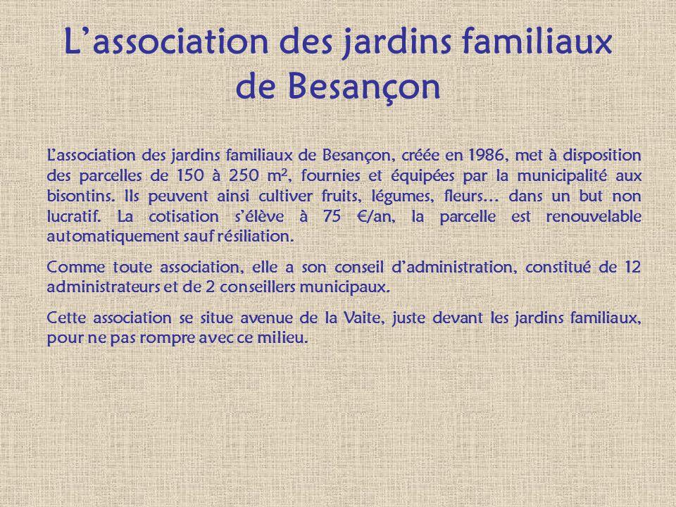 L'association des jardins familiaux de Besançon
