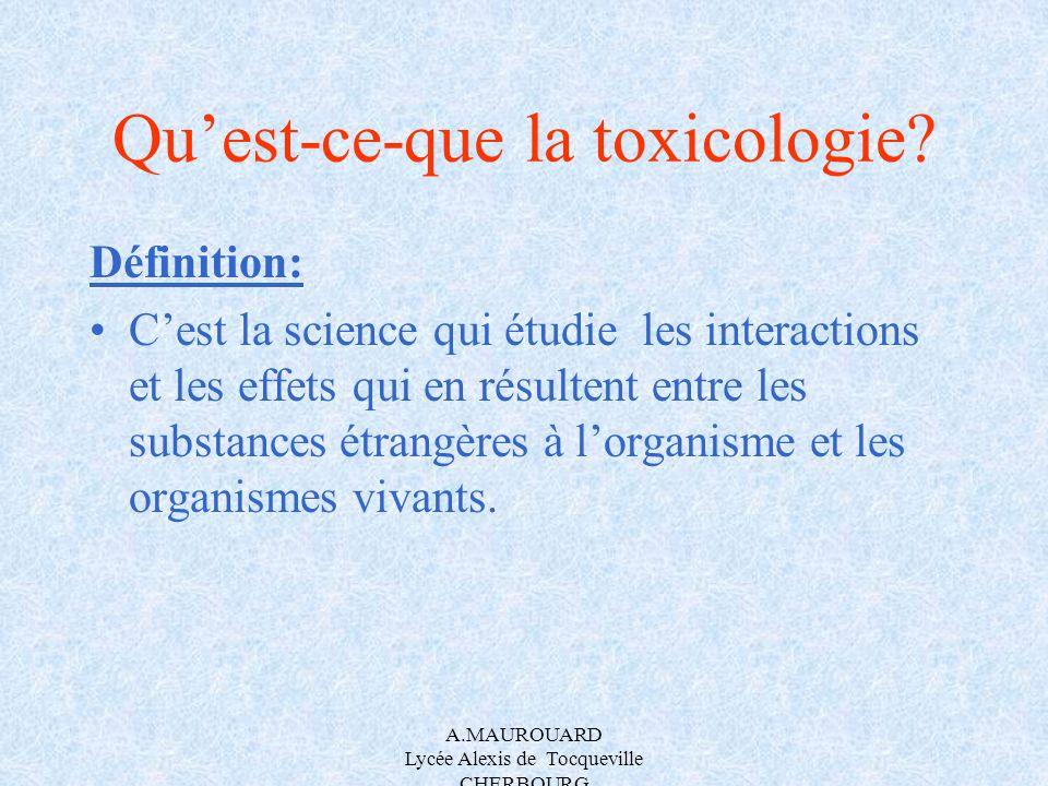 Qu'est-ce-que la toxicologie