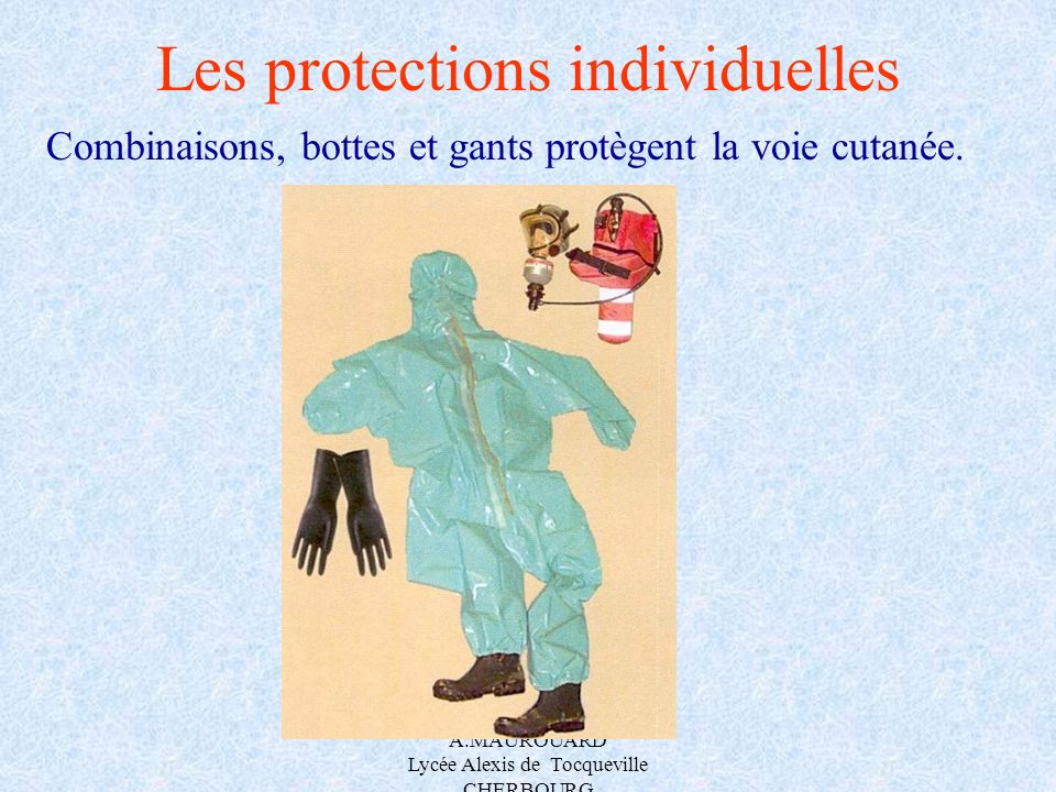 Les protections individuelles