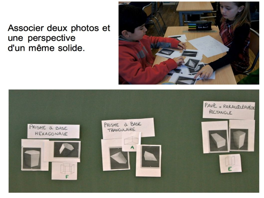 Associer deux photos et une perspective d un même solide.