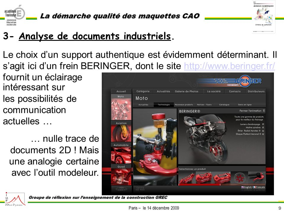 3- Analyse de documents industriels.