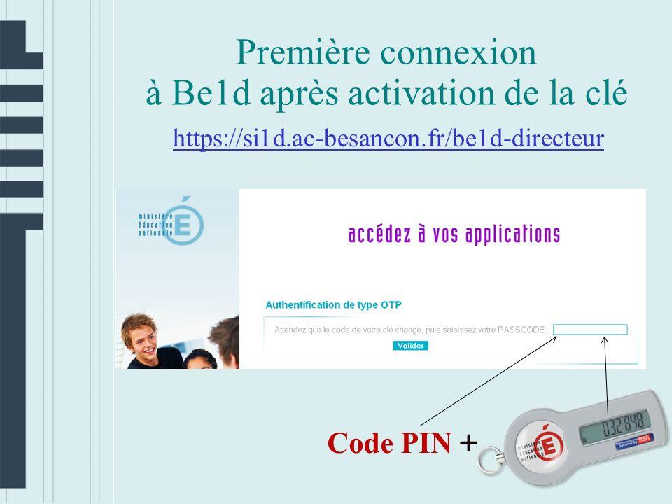 à Be1d après activation de la clé