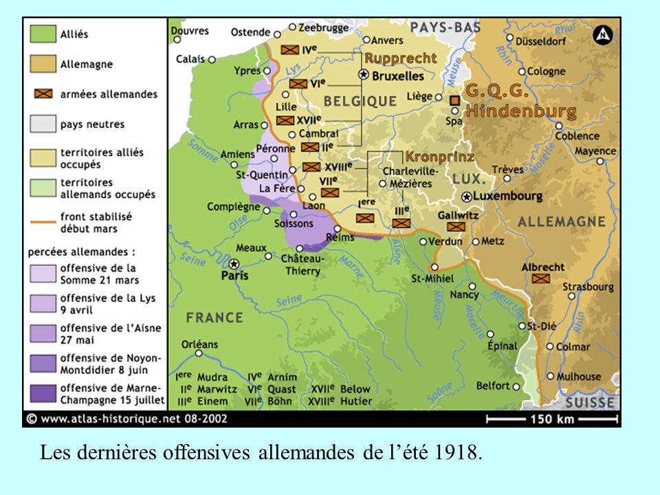 Les dernières offensives allemandes de l'été 1918.