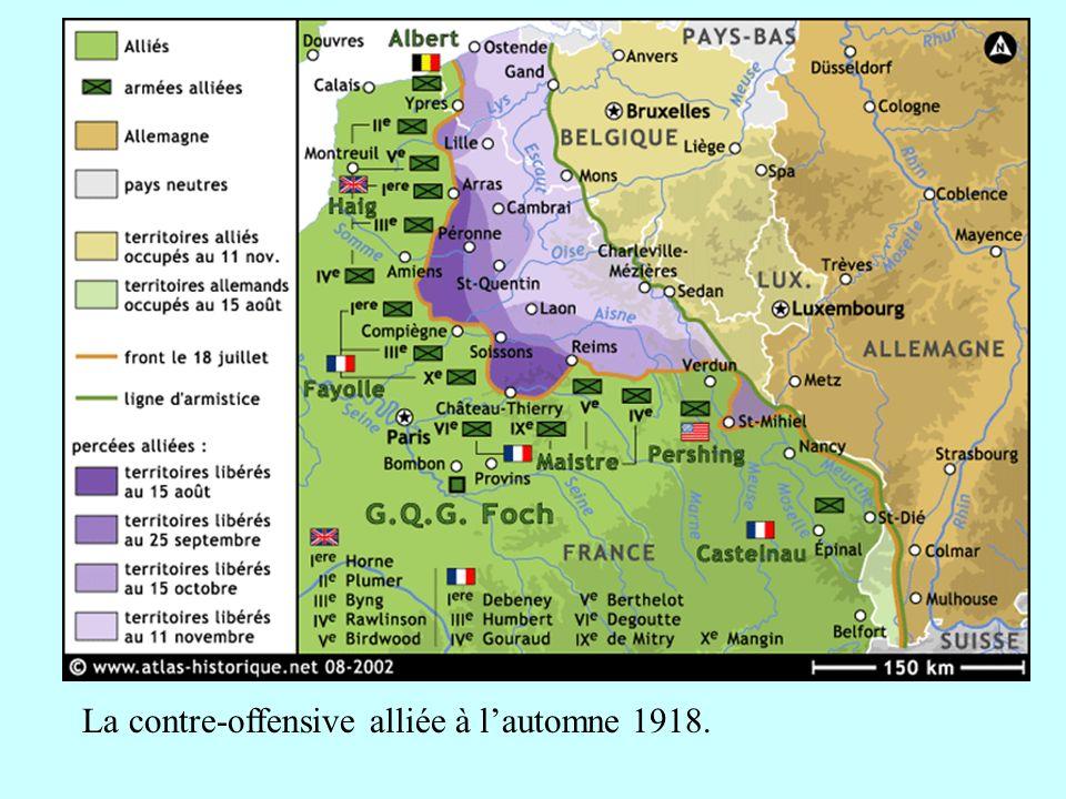La contre-offensive alliée à l'automne 1918.