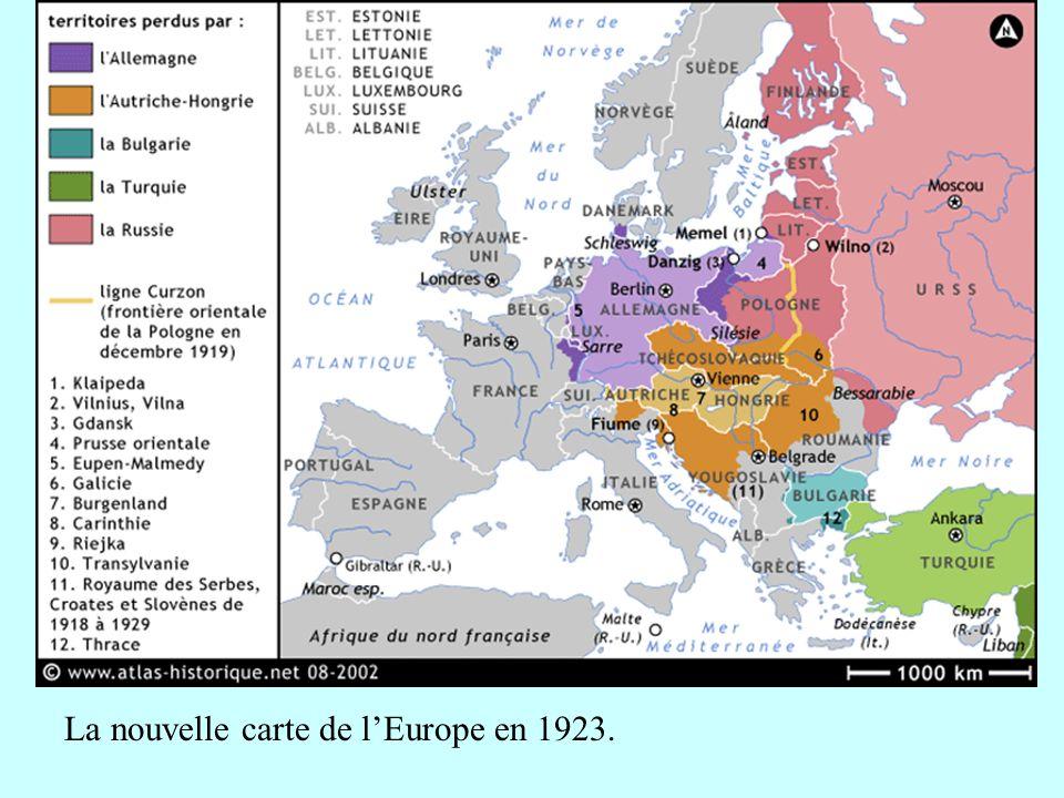 La nouvelle carte de l'Europe en 1923.