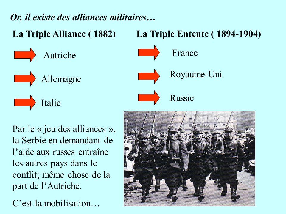 Or, il existe des alliances militaires…