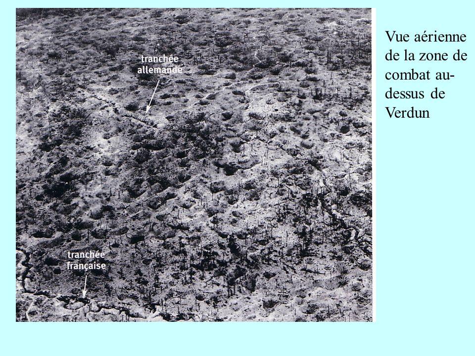 Vue aérienne de la zone de combat au-dessus de Verdun