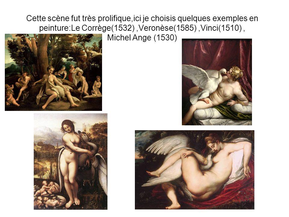 Cette scène fut très prolifique,ici je choisis quelques exemples en peinture:Le Corrège(1532) ,Veronèse(1585) ,Vinci(1510) , Michel Ange (1530)